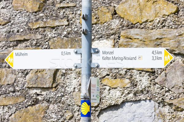 guideposts, Road to Santiago de Compostela, Rhineland-Palatinate Stock photo © phbcz