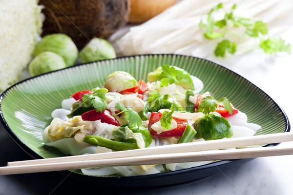азиатских овощей кокосовое молоко продовольствие пасты растительное Сток-фото © phbcz