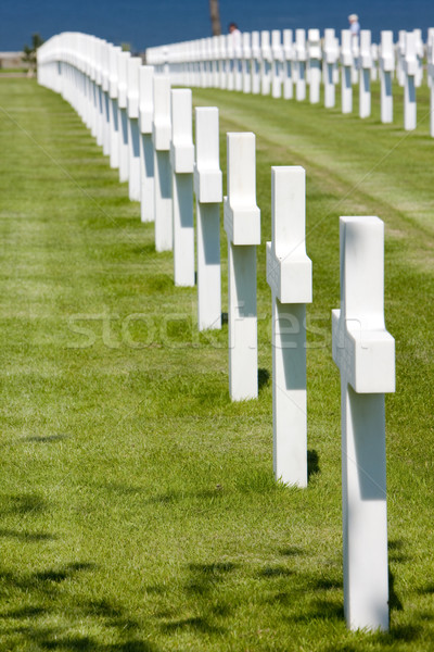 American Military Cemetery, Omaha Beach, Colleville-sur-Mer, Nor Stock photo © phbcz