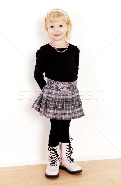 Stałego dziewczynka spódnica dziewczyna dziecko Zdjęcia stock © phbcz