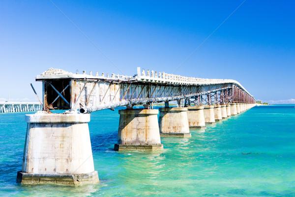 Velho estrada ponte Flórida teclas Foto stock © phbcz