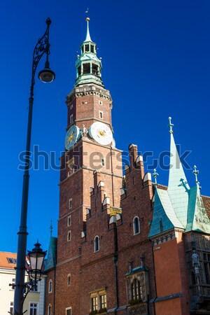 Сток-фото: ратуша · основной · рынке · квадратный · Польша · здании