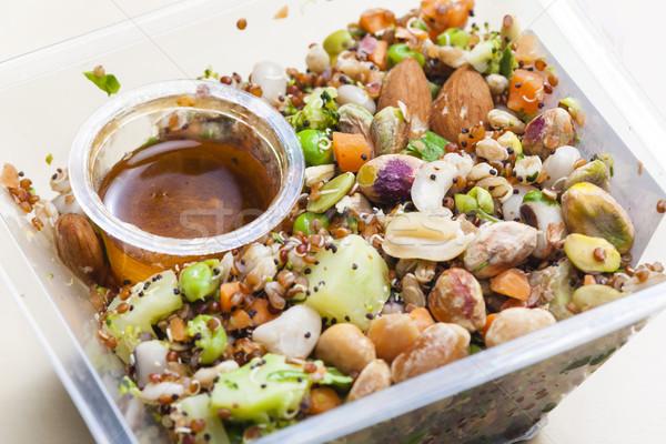 Salata gıda plaka sebze sebze Stok fotoğraf © phbcz