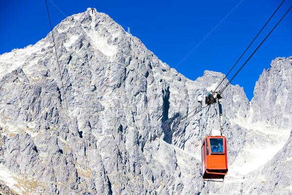 ケーブル 車 ピーク 高い スロバキア 風景 ストックフォト © phbcz