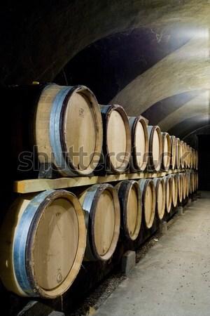 винный погреб Чешская республика древесины цистерна баррель Winery Сток-фото © phbcz