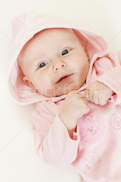 портрет три месяцев старые девушки Сток-фото © phbcz