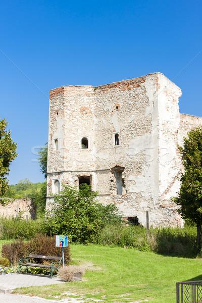Ruiny zamek obniżyć Austria budynku podróży Zdjęcia stock © phbcz