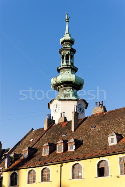 Turn poartă Bratislava Slovacia constructii oraş Imagine de stoc © phbcz