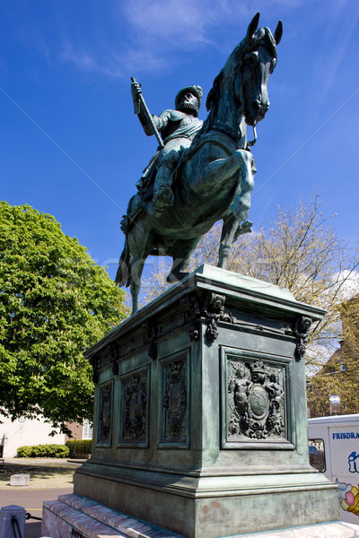 equestrian statue in front of Paleis Noordeinde, The Hague, Neth Stock photo © phbcz