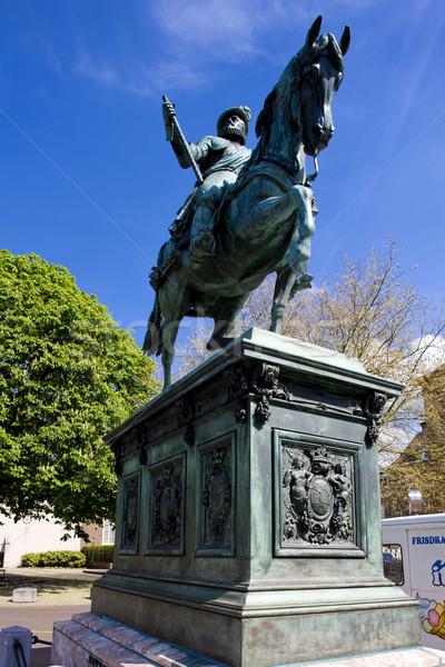 Lovas szobor történelem szobor szabadtér egy Stock fotó © phbcz
