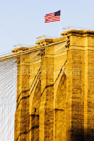 Photo stock: Détail · pont · Manhattan · New · York · City · USA · Voyage