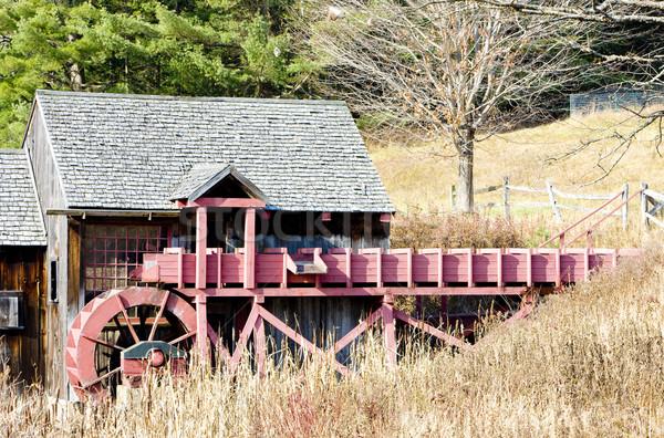 Malom Vermont USA épület építészet szabadtér Stock fotó © phbcz