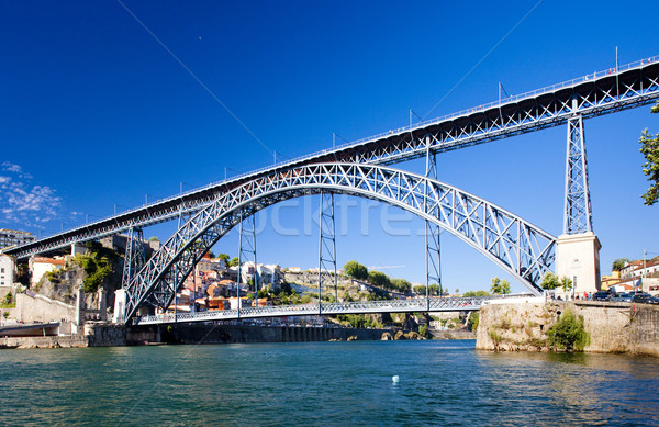 Dom Luis I Bridge, Porto, Douro Province, Portugal Stock photo © phbcz