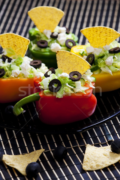 peppers filled with salad Stock photo © phbcz