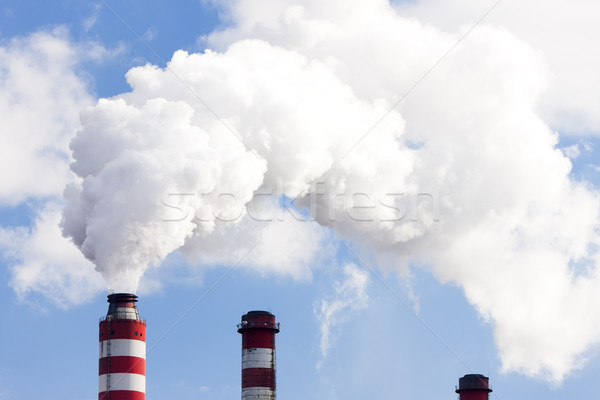 chimneys of power plant Stock photo © phbcz