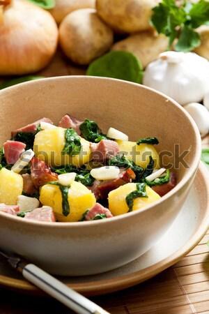 смесь бобов копченый мяса продовольствие блюд Сток-фото © phbcz