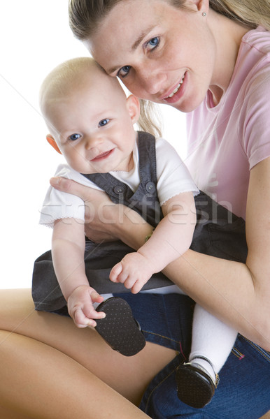 Retrato madre bebé mujer familia ninos Foto stock © phbcz