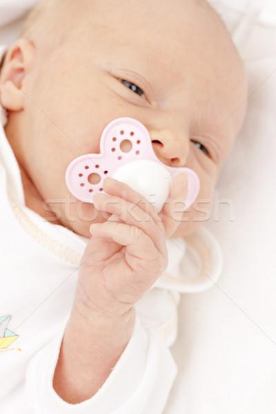 portrait of newborn baby girl Stock photo © phbcz