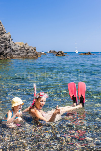 Stock photo: snorkeling in Mediterranean Sea, France