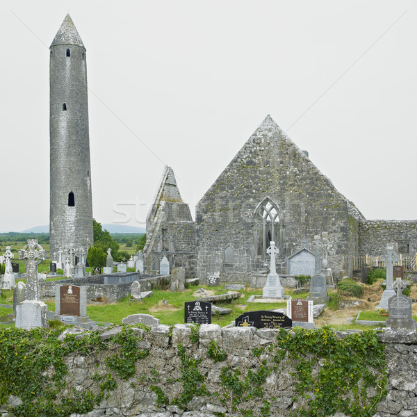 ruins of Kilmacduagh Monastery, County Galway, Ireland Stock photo © phbcz