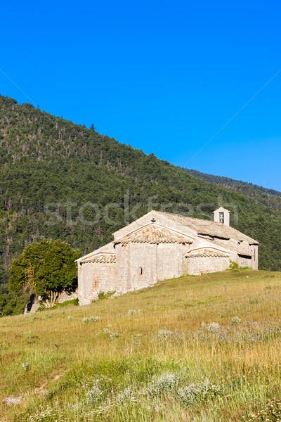 Chapel Notre-Dame near Vergons, Provence, France Stock photo © phbcz