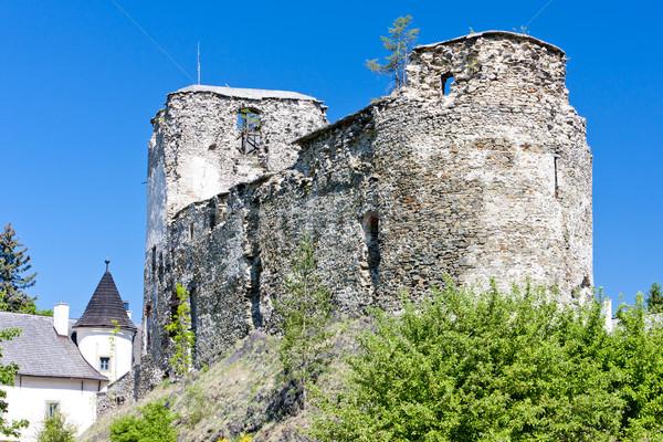 Ruines Slowakije gebouw kasteel architectuur geschiedenis Stockfoto © phbcz