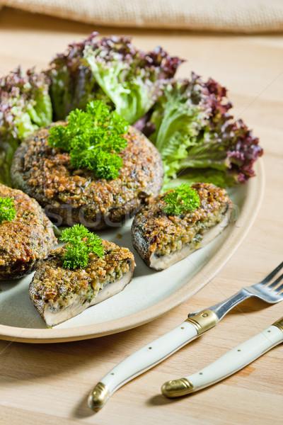 арахис смесь вилка гриб еды Сток-фото © phbcz