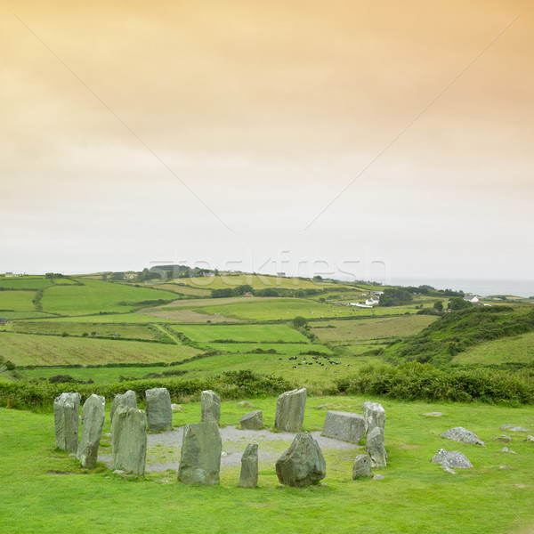 Drombeg Stone Circle, County Cork, Ireland Stock photo © phbcz