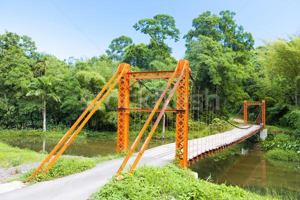 висячий мост моста путешествия зданий архитектура Открытый Сток-фото © phbcz