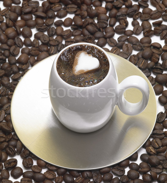 cup of coffee with sugar Stock photo © phbcz