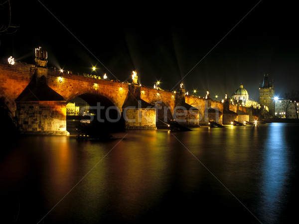 Orange Day (2.2. 2002), Charles bridge, Prague, Czech Republic Stock photo © phbcz