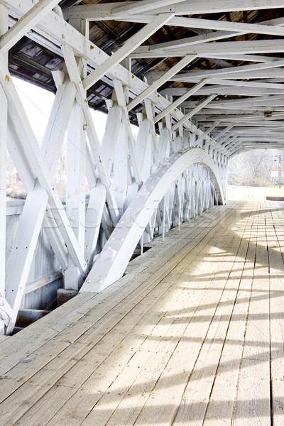 Groveton Covered Bridge (1852), New Hampshire, USA Stock photo © phbcz