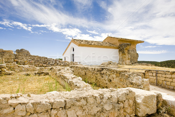 Régészeti hely építészet romok ősi szabadtér Stock fotó © phbcz