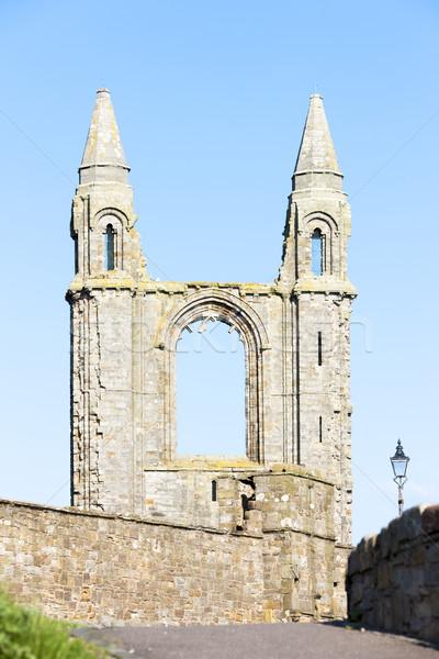Ruinas reglas iglesia catedral edificio arquitectura Foto stock © phbcz