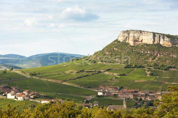 Vergisson Rock, Burgundy, France Stock photo © phbcz