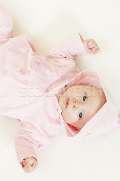 Tre mesi vecchio ragazza baby Foto d'archivio © phbcz