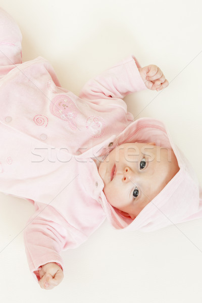 Tres meses edad nina bebé Foto stock © phbcz