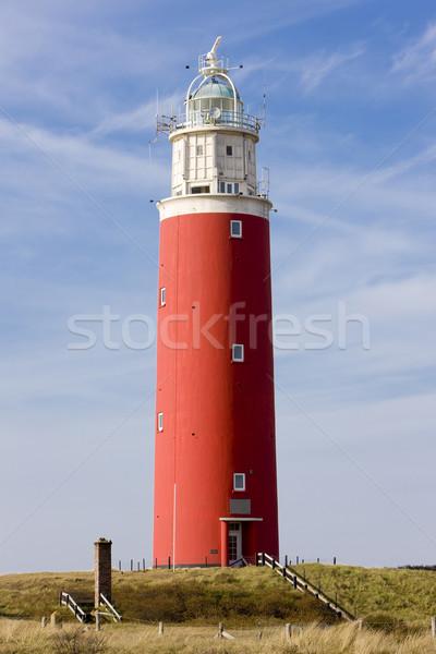 Világítótorony sziget Hollandia épület biztonság építészet Stock fotó © phbcz