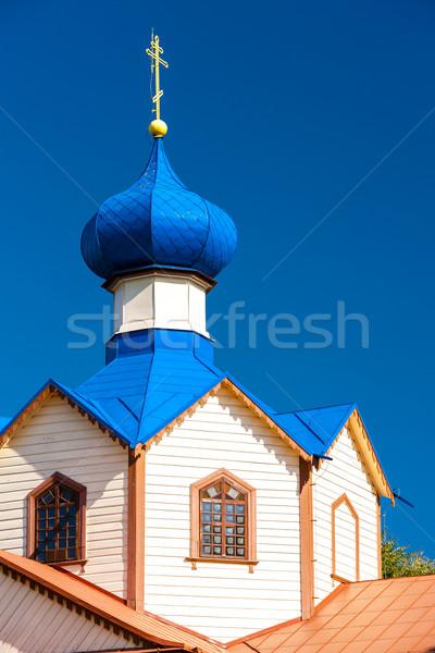 Ahşap ortodoks kilise aziz Bina kule Stok fotoğraf © phbcz