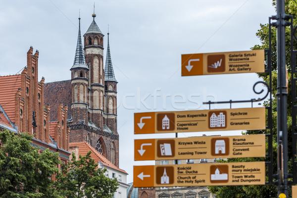 Chiesa Polonia costruzione città viaggio architettura Foto d'archivio © phbcz