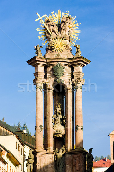 baroque column of Saint Trinity, Saint Trinity Square, Banska St Stock photo © phbcz