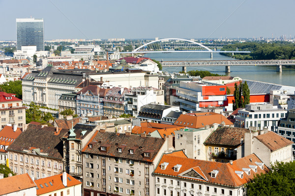 Bratislava Slovaquie ville Voyage bâtiments rivière Photo stock © phbcz