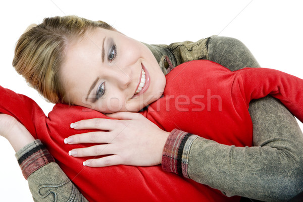 portrait of woman holding a heart Stock photo © phbcz