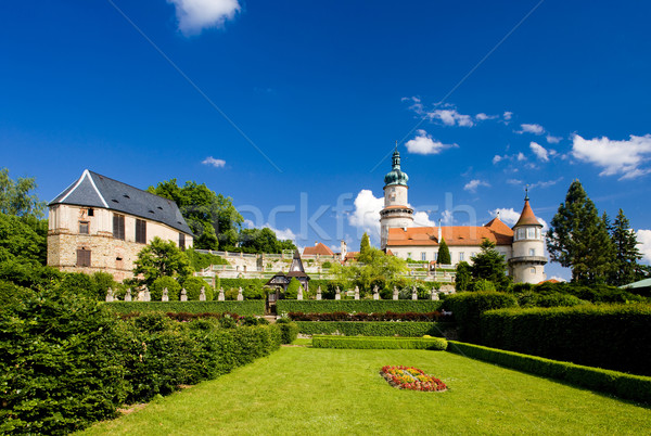 Stock photo: Castle of Nove Mesto nad Metuji with garden, Czech Republic
