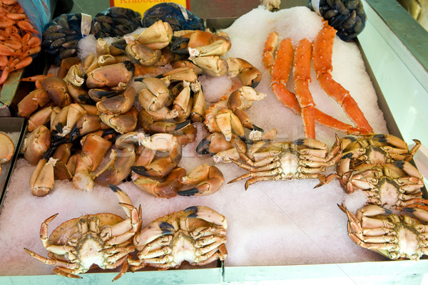 crabs, street market in Bergen, Norway Stock photo © phbcz