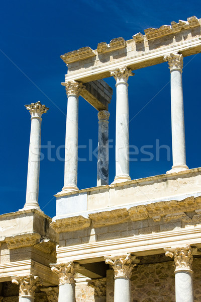 detail of Roman Theatre, Merida, Badajoz Province, Extremadura,  Stock photo © phbcz