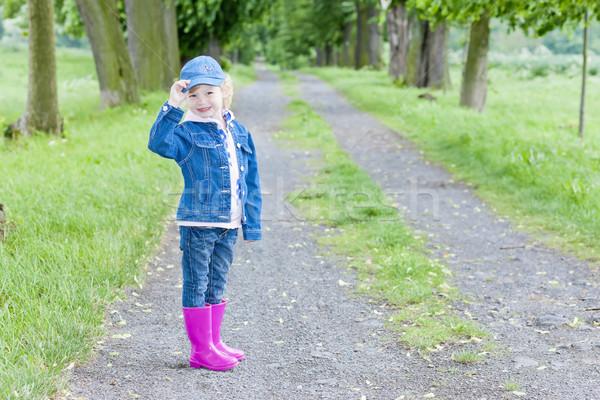 Meisje voorjaar steegje meisje Stockfoto © phbcz