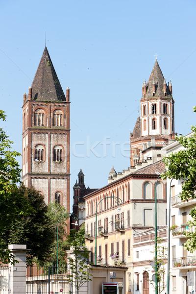 Bazylika Włochy budynku architektury historii wieża Zdjęcia stock © phbcz