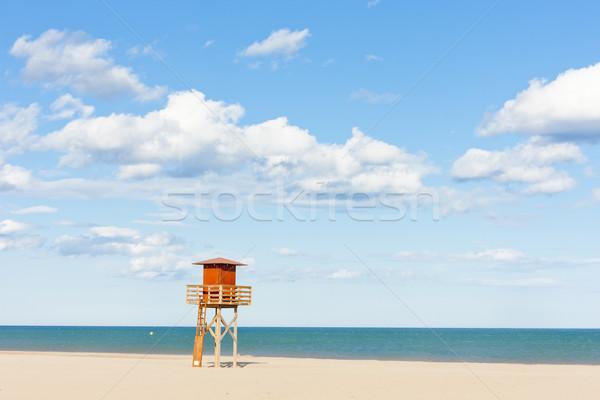 ライフガード キャビン ビーチ 海 旅行 休日 ストックフォト © phbcz