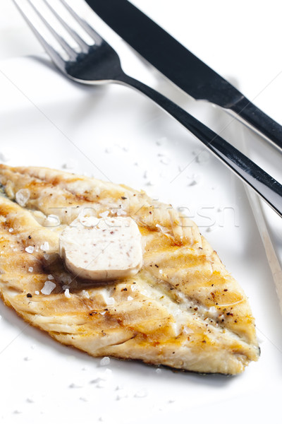 grilled mackerel with anchovy butter Stock photo © phbcz
